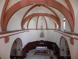 Interior de la iglesia desde el coro