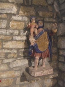 San Cristóbal, guardado en la iglesia parroquial de Calvera
