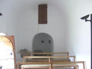 Interior hacia los pies