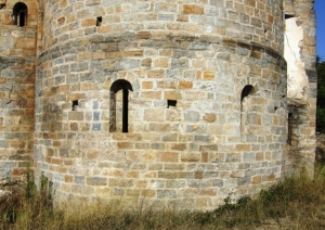 Zona baja del ábside correspondiente a la cripta