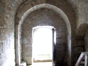 Interior hacia donde estaba el ábside original