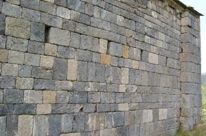 Muro norte. Detalle del aparejo