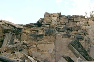 Restos del arranque de la bóveda del ábside y del arco preabsidal