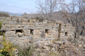 Muro norte. Interior