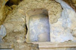 Hornacina en el muro sur