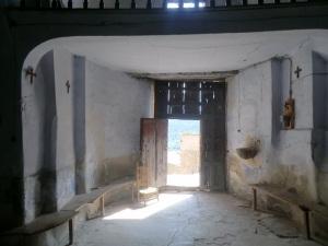 Entrada actual en el antiguo ábside