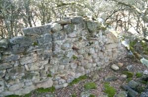Muro sur. Indicios de la antigua puerta