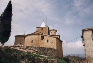 La iglesia hace unos años con la sacristía actualmente suprimida