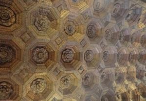 Monasterio de Uclés. Artesonado del refectorio