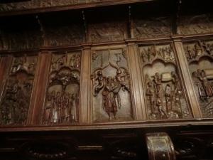 San Bartolomé. Sillería del coro. Detalle