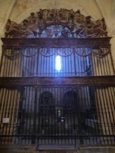 San Bartolomé. Reja de la capilla de la Anunciación.