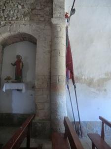 Columna en muro sur
