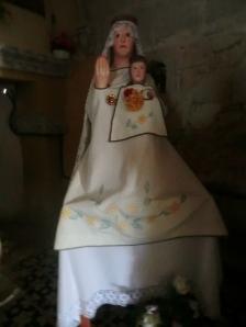 Copia moderna de la imagen de la Virgen