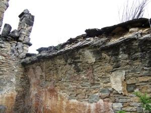 Muro norte con el arranque de la bóveda