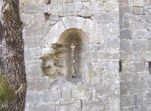 Ventana en muro sur. Interior