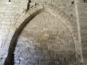 Arco de acceso a la capilla norte. Interior