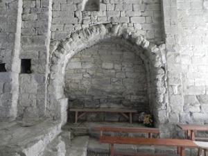 Arco de acceso a la capilla sur. Interior