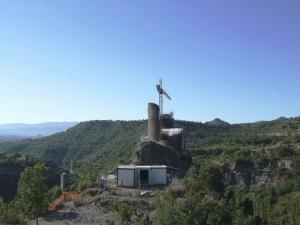 Obras de consolidación de los restos de la torre de la Mora