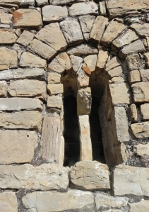 Ventana geminada en muro sur