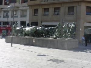 Pamplona. Monumento al encierro