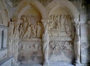San Prudencio de Armentia. Tímpano del Cordero