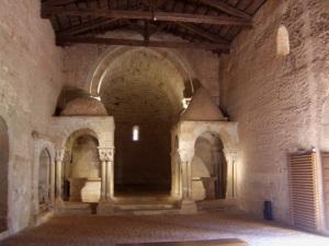 San Juan de Duero. Interior de la iglesia