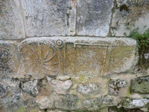 San Miguel. Sillar o estela romana reutilizada