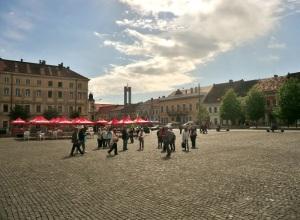 Cluj. Plaza Matei Corvin