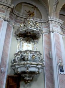 Cluj. Iglesia franciscana. Púlpito