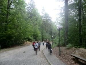 Subiendo al castillo de Rasnov