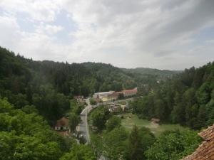 Vista desde el castillo de Bran sobre la zona fronteriza