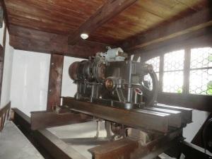 Castillo de Bran. Maquinaria del ascensor