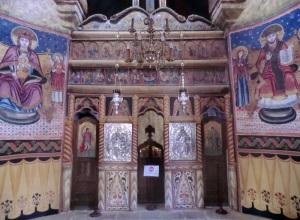 396. Sinaia. Monasterio. Iglesia antigua.  Iconostasio