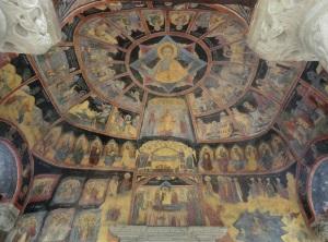 398. Sinaia. Monasterio. Iglesia antigua. Atrio