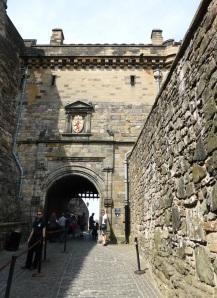 Edimburgo. acceso al castillo