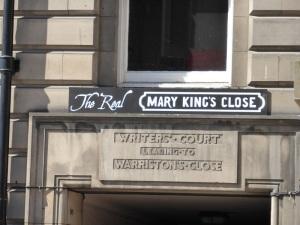 Edimburgo. Acceso a Mary King's Closed