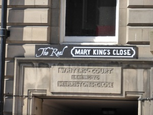 Edimburgo. Acceso a Mary King's Closed