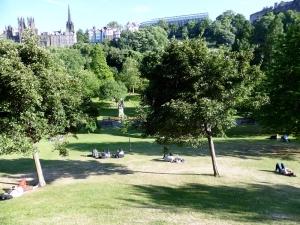Edimburgo. Jardines bajo Princes street