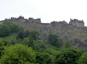 Edimburgo. El castillo desde Princes street