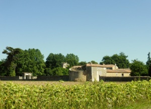 Carretera a Rétaud. casona con molino