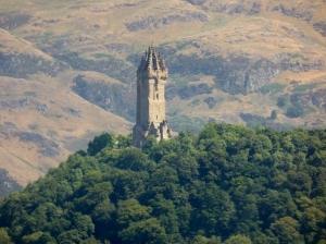 Stirling. Monumento a W. Wallace desde el castillo