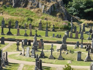 Stirling. Cementerio junto al castillo