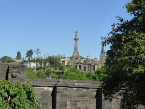 Glasgow. Cementerio desde la catedral prebiteriana