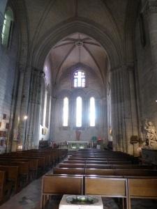Brantôme. Iglesia abacial. Interior