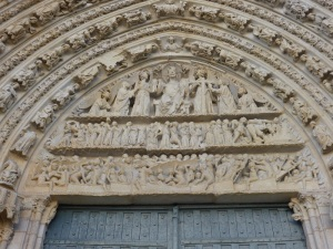 Poitiers. Catedral de San Pedro. Tímpano de la portada central