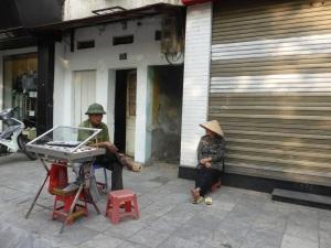 056. Hanoi. Paseo en triciclo por el barrio antiguo