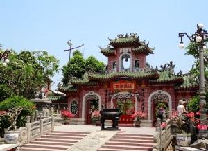Salón de los fieles chinos de Fujian. Entrada