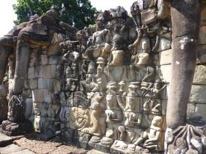 058. Angkor Thom. Terraza de los Elefantes