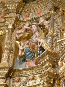 071. Palencia. Catedral. Capilla del Sagrario. Retablo. Virgen tardorrománica