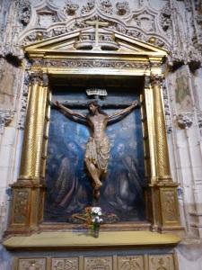 082. Palencia. Catedral. Cristo de las Batallas del XIII